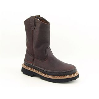 Georgia Giant Wellington Youth Kids Boys Sz 2 Brown Boots Casual 33EU