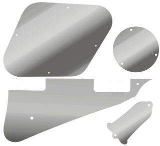 Kit Pickguard Covers 4 Gibson Les Paul Chrome Mirror