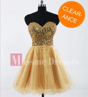 Golden Cocktail Mini Dress Prom Party Formal Short Dresses From Size 2