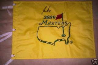 Gary Player Signed Autograph New 2009 Masters Pin Flag