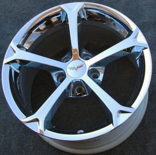 Chevy Corvette GM OEM Grand Sport Chrome Wheels Rims Set 4 Free