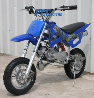 50cc 2 Stroke Gas Motor Mini Bike Dirt Pit Bike Blue H DB49A