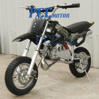 New 49cc 50cc 2 Stroke Gas Motor Mini Dirt Pit Bike Black DB49A
