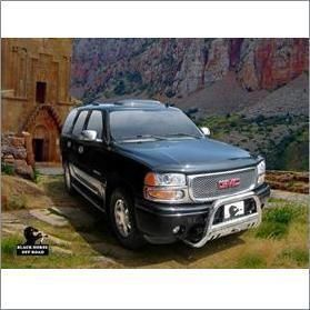 00 06 GMC Yukon XL 1500 Black Horse Stainless Steel Bull Bar Free