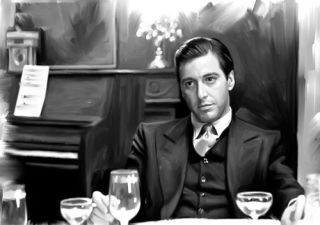 Godfather Al Pacino DVD Portrait Painting Canvas Art Giclee Print
