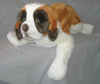 St Bernard Dog Plush Stuffed Animal Giant Soft Pillow Toy Puppy