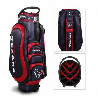 Authentic NFL Houston Texans Team Golf Medalist Cart Bag Bonus