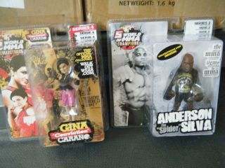 of MMA Round 5 UFC Anderson Silva and Gina CARANO Le Figures
