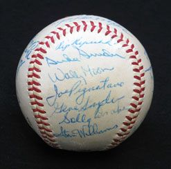 1959 Los Angeles Dodgers Team Signed Baseball 23 Sigs