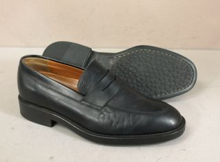 Tods Black Leather Dress Loafers Shoes 7 Pristine Condition