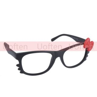 New Kitty Bow Tie Style Glasses Frame Lovely Fashionable for Women