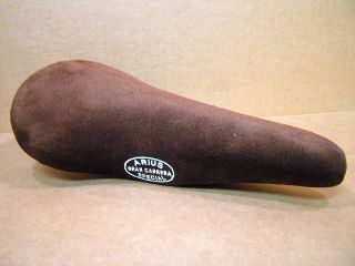 New Old Stock Arius Gran Carrera Special Saddle w Brown Suede Cover