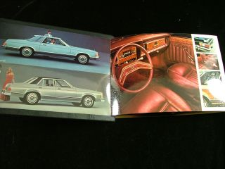 1975 Ford Granada Dealer Book Brochure Fold Out