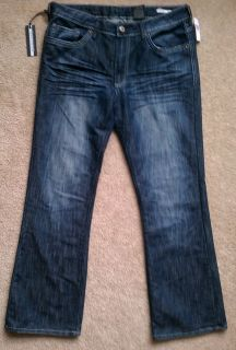 Buffalo Jeans King Slim Boot River Blue Wash Retail $110