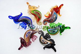 Wholesale Lots Jewelry 6pcs Murano Glass Animal Pendants Silk