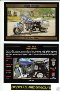 1961 Harley Davidson FLH Duo Glide Bike Motorcycle Card