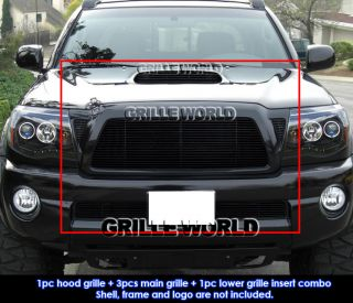 Toyota Tacoma TRD Sport Black Billet Grille Grill Combo Insert