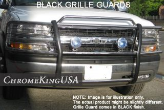 Chevy Tahoe Suburban Silverado Black Grille Guards Brush Bull Bars