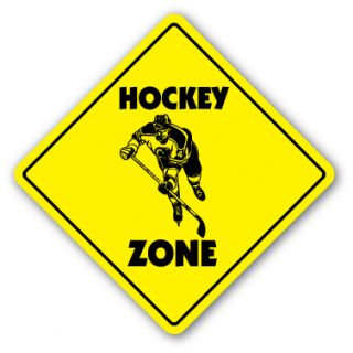 Hockey Zone Sign New Caution Puck Stick Player Gift Team Trophy Award