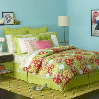 KATE SPADE GARDEN GROVE GREEN RED FLORAL Queen Full Comforter 3 P Set
