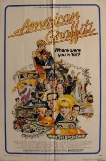 American Graffiti Great 1973 Original Movie Poster