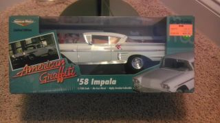 american graffiti die cast 1958 Chevy impalla,118 New in box. Never