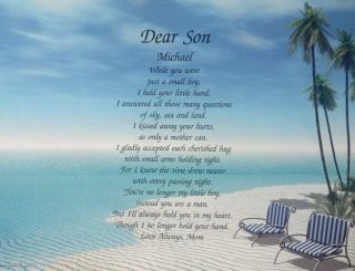 Son Personalized Gift Idea for Grown Son Birthday or Christmas