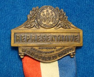 Authentic Civil War Union Veterans G A R Gar Reunion Medal Badge Ohio