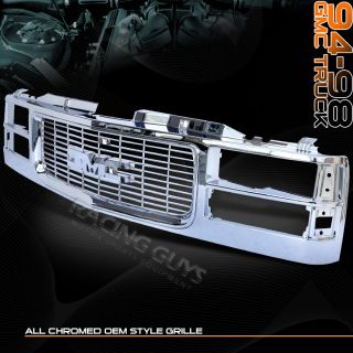 1994 1998 GMC Sierra 1500 2500 3500 Chrome Grille Grill
