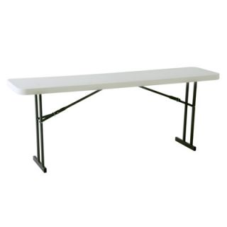 Commercial Folding Seminar Table White Granite 80177