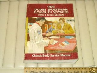 1979 Dodge Sportsman Plymouth Voyager Service Manual