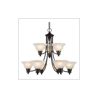 Design Group Alabaster Rocks Dakota 7 Light Chandelier   ALR 8779