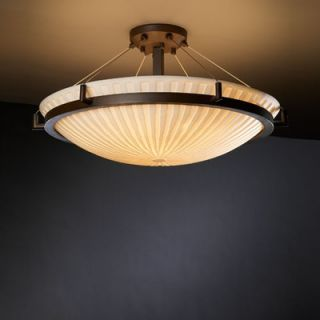 Justice Design Group Porcelina Ring 39 8 Light Semi Flush Mount