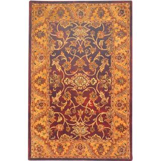Safavieh Golden Jaipur Burgundy/Gold Rug   GJ250C 214