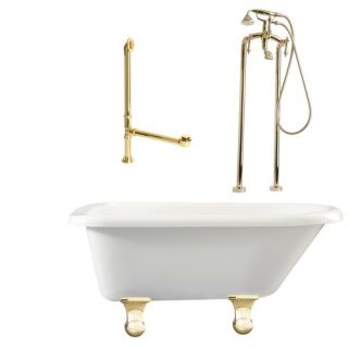 Brighton 60 Roll Top Tub with Floor Mount Faucet