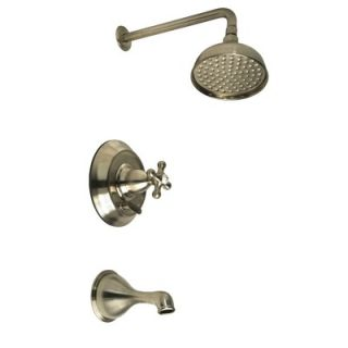 Giagni Tella 67 Tub with Floor Mount Faucet and Cross Handles in