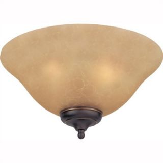 Monte Carlo Fan Company Teastain Mission Three Light Ceiling Fan Light