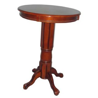 Boraam Florence Pedestal Pub Table in Brandy