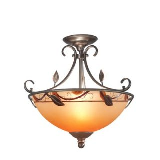 Dale Tiffany Garden Leaf Semi Flush Mount