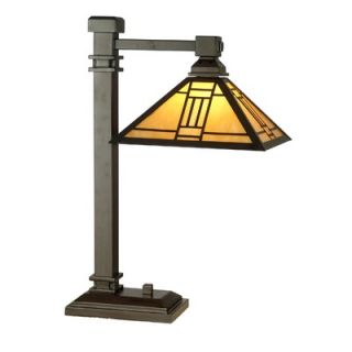 Dale Tiffany Noir Mission Desk Lamp in Mica Bronze   TT100016