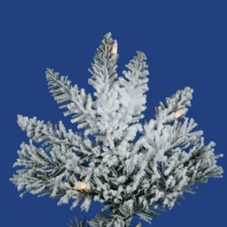 Vickerman Flocked Utica Fir 10 Artificial Christmas Tree with Clear