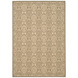 Safavieh Courtyard Coffee/Sand Checked Rug