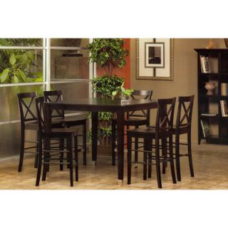 Alpine Furniture Bayview Solid Top Pub Table in Dark Cherry