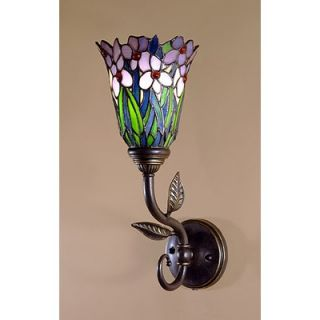 Dale Tiffany Mende Series Meadowbrook Wall Sconce in Antique Bronze