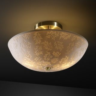Justice Design Group Limoges 2 Light Semi Flush Mount   POR 8819