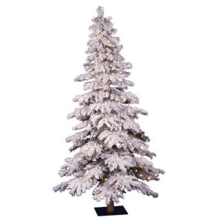 Vickerman Flocked Spruce Alpine 5 Artificial Christmas Tree with