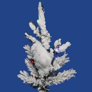 Vickerman Flocked Georian Fir 6 Artificial Christmas Tree with