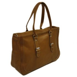 Piel Fashion Avenue Shoulder Buckle Tote in Saddle   2762 SDL