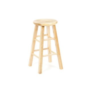 Winsome 24 Backless Square Leg Bar Stool (Set of 2)