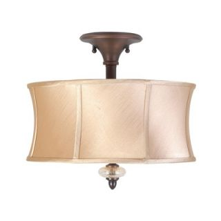 World Imports Lighting Chambord 3 Light Semi Flush Mount
